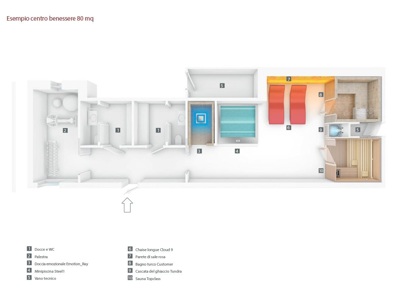 Centro Benessere 80 mq