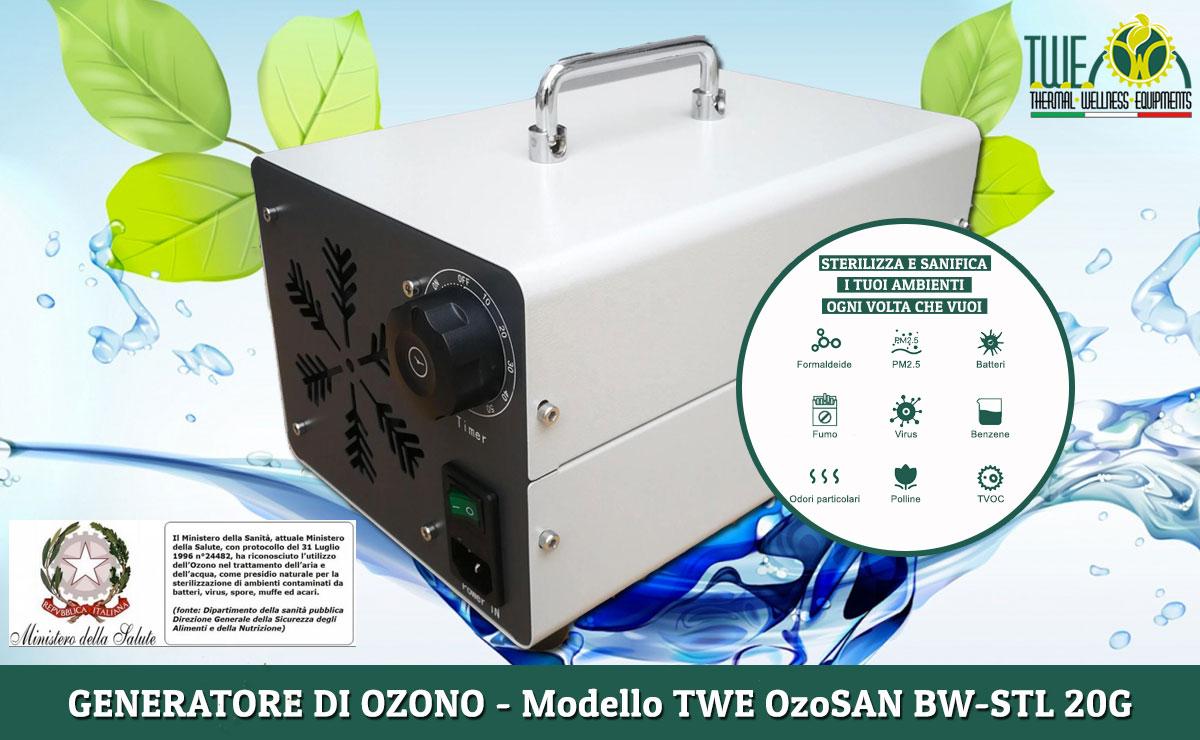 generatore di ozono modello TW EOzoSAN BW STL-20G